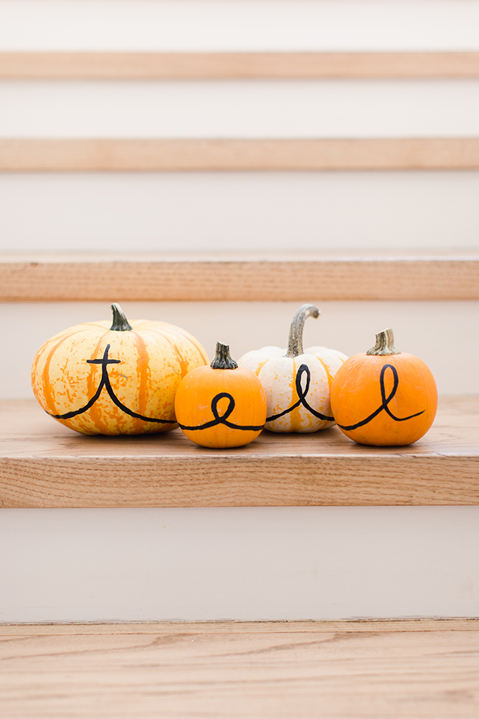 personalized family pumpkins via laurenconrad.com