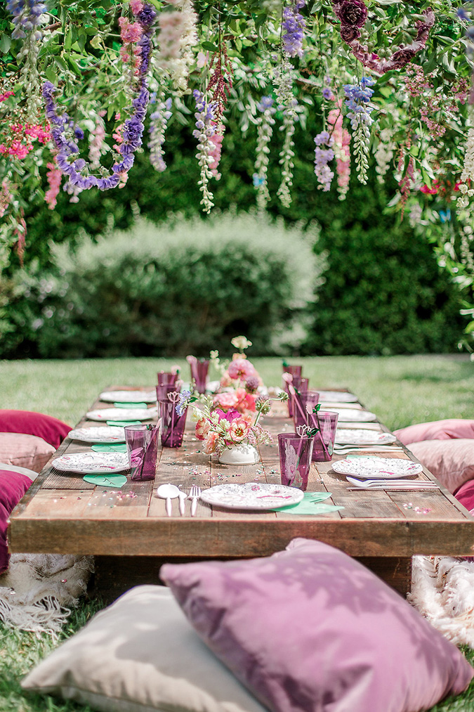 fairy garden party via black twine and deets and things