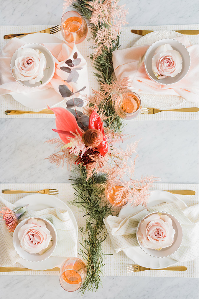 party planning a pretty pastel holiday tablescape lauren conrad