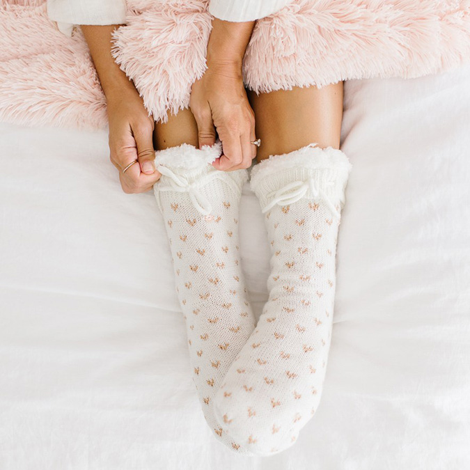 LC Lauren Conrad birdseye slipper socks