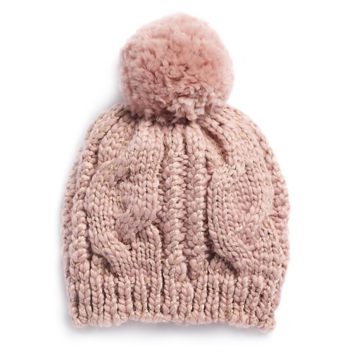 LC Lauren Conrad cable knit beanie