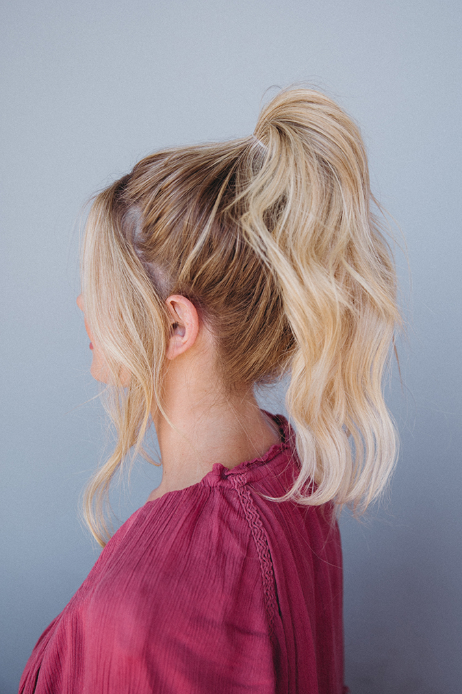 barefoot blonde top knot tutorial via laurenconrad.com