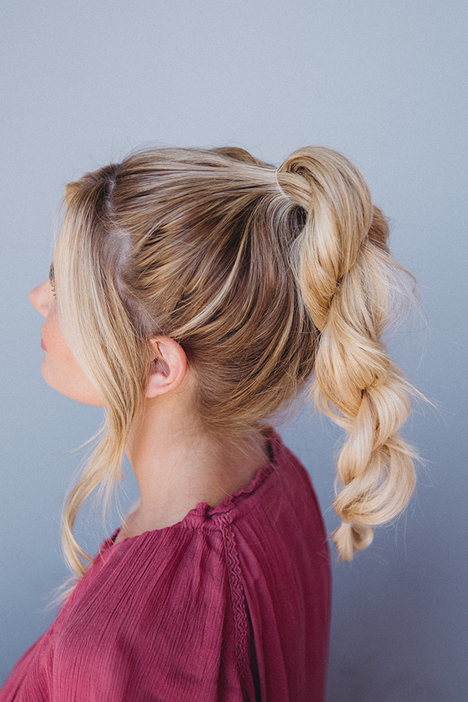 hair styles buns hair how to an effortless top knot tutorial from 9720