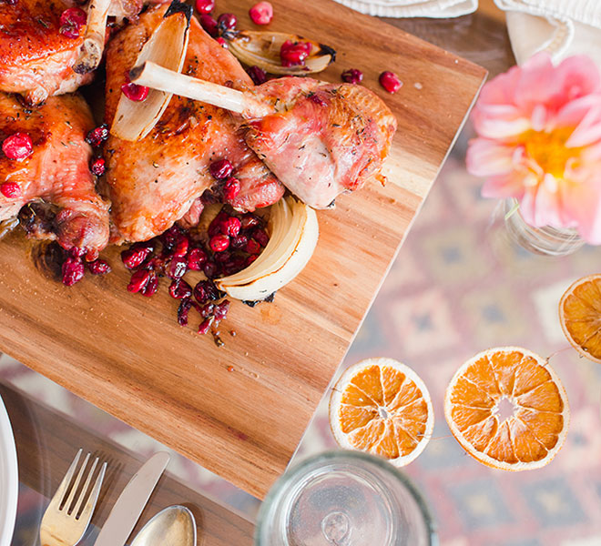 Recipe Box: Maple Roasted Turkey Pieces with Roasted Cranberries