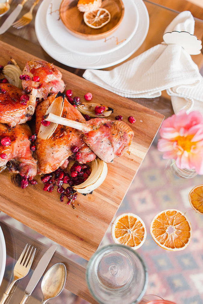 maple roasted turkey with cranberries via laurenconrad.com