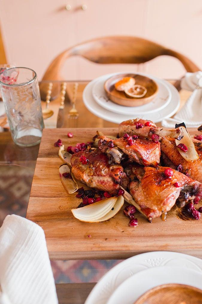 maple roasted turkey with cranberries via laurenconrad.com
