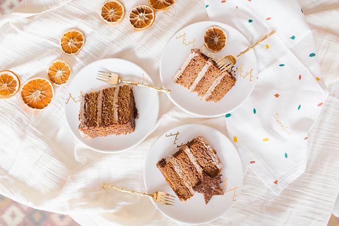 grain free gingerbread pumpkin caramel cake via laurenconrad.com
