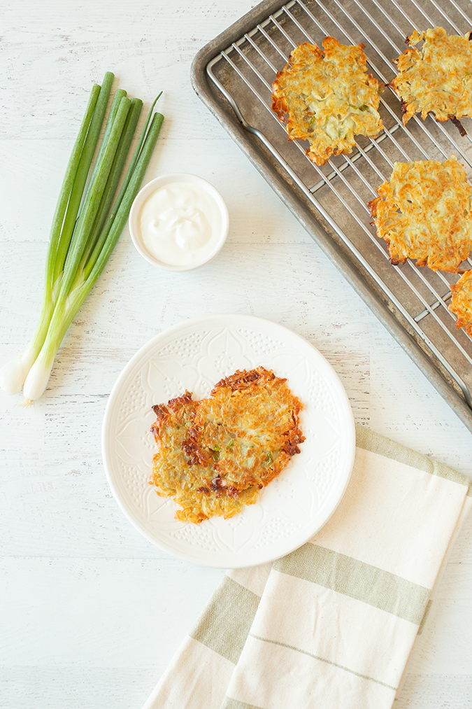 healthy grain-free latkes via laurenconrad.com