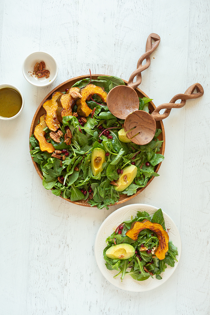 autumn arugula salad via laurenconrad.com