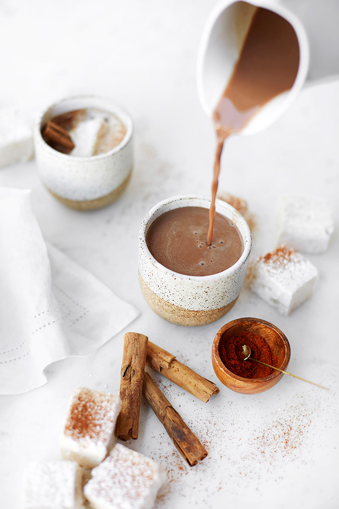 dairy and refined sugar free mexican hot cocoa