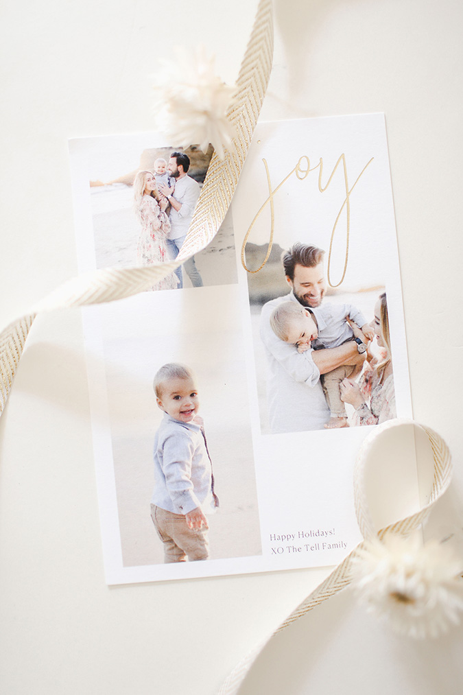 Lauren Conrad's 2019 family Christmas card via laurenconrad.com