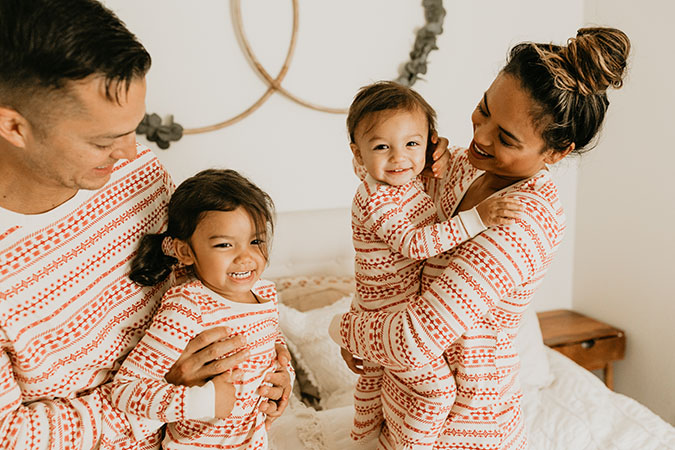 LC Lauren Conrad family jammies via laurenconrad.com