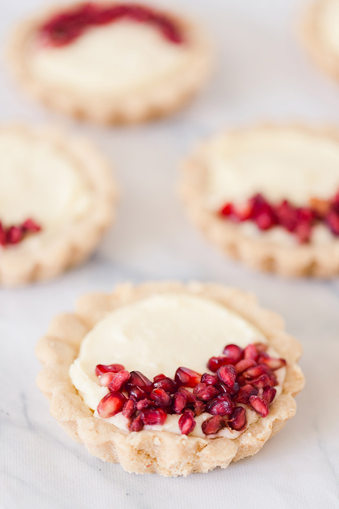 pomegranate tarts recipe via laurenconrad.com
