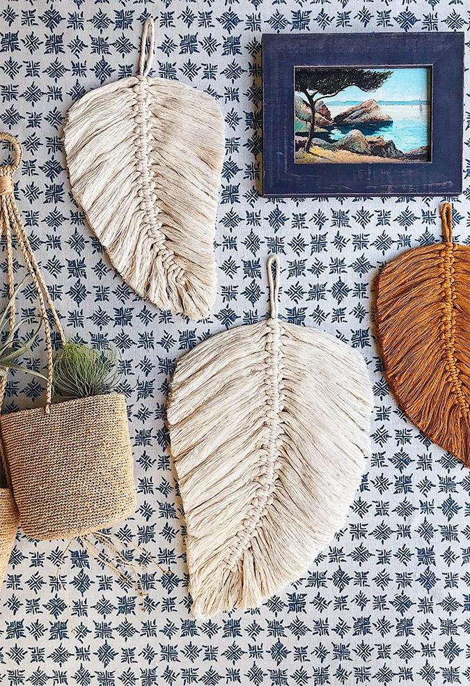 Macrame DIY Leaf