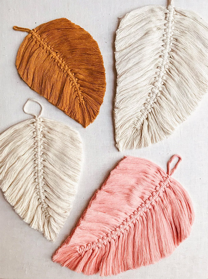 Macrame Leaf DIY