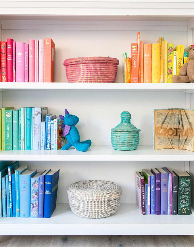 Colorful Closet Shelf