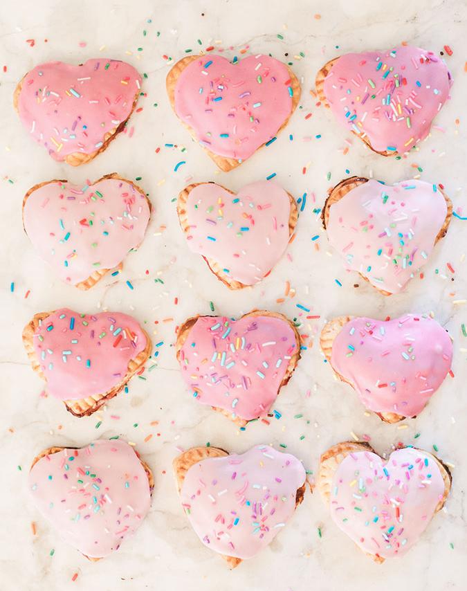 Heart poptarts