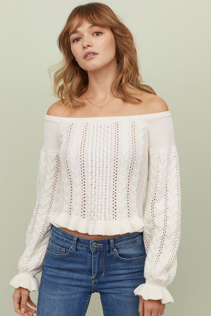H&M Off the Shoulder Sweater