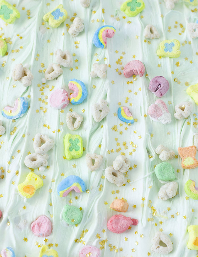 Lucky Charms Candy Bark via Best Friends for Frosting