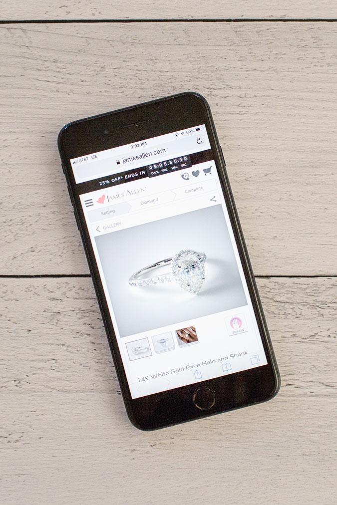 James Allen Online Engagement Ring Design Tool