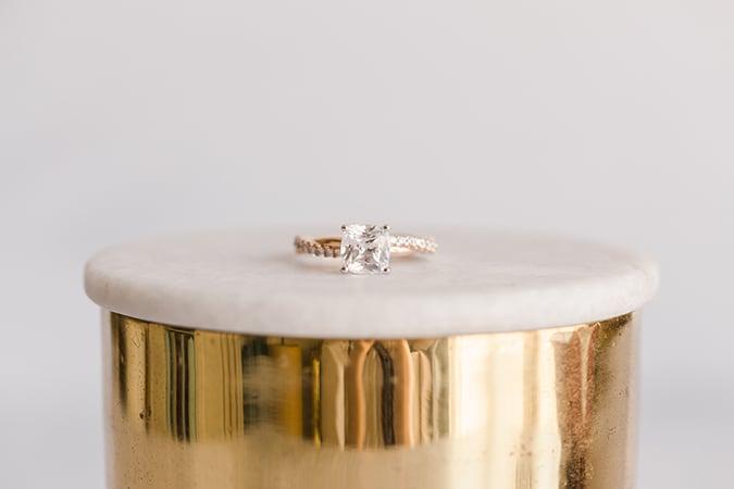 James Allen Cushion Cut Diamond Ring