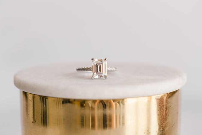 James Allen Emerald Cut Diamond Ring