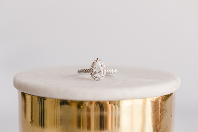 James Allen Pear Cut Dimond Ring