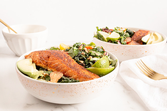 Blackened Salmon Salad