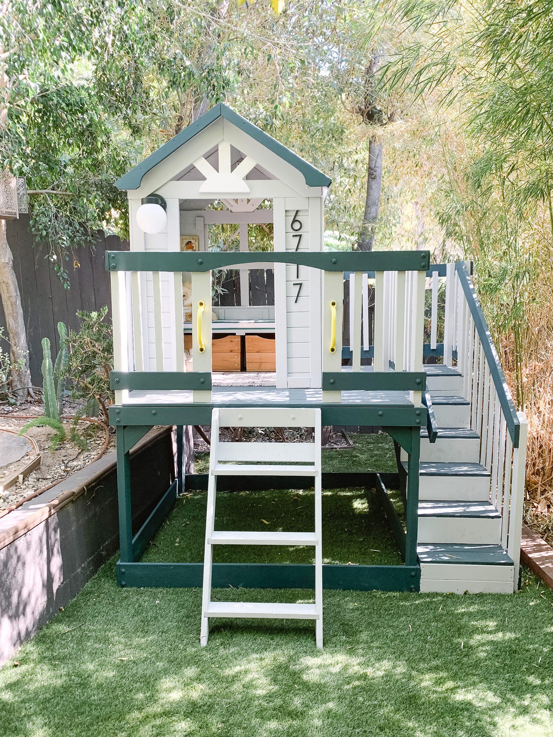 A Backyard Playhouse Makeover