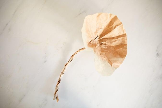My DIY Fall Leaf Garland Mantel Décor