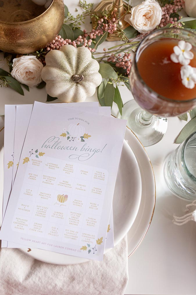 A Halloween Tablescape with Apple Cider Chai and Spiced Oatmeal Cookie Sandwiches