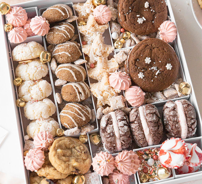 Homemade Christmas Cookie Box