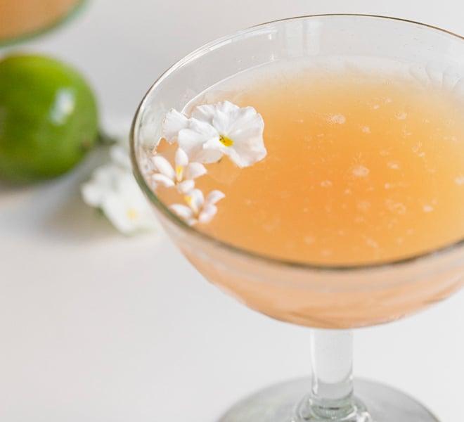 Valentine's Day Guava Champagne Cocktails