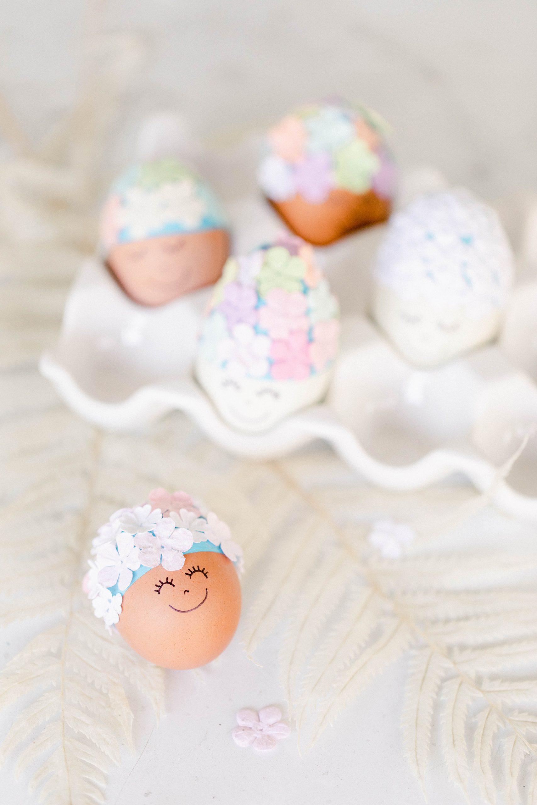 DIY Bathing Beauty Easter Eggs