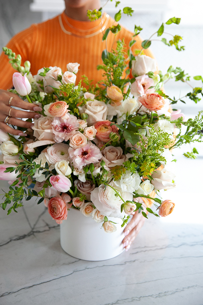DIY Grocery Store Floral Arrangements With Sister Blooms