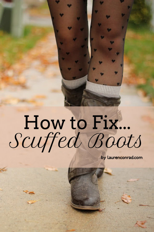 How to Fix Scuffed Boots