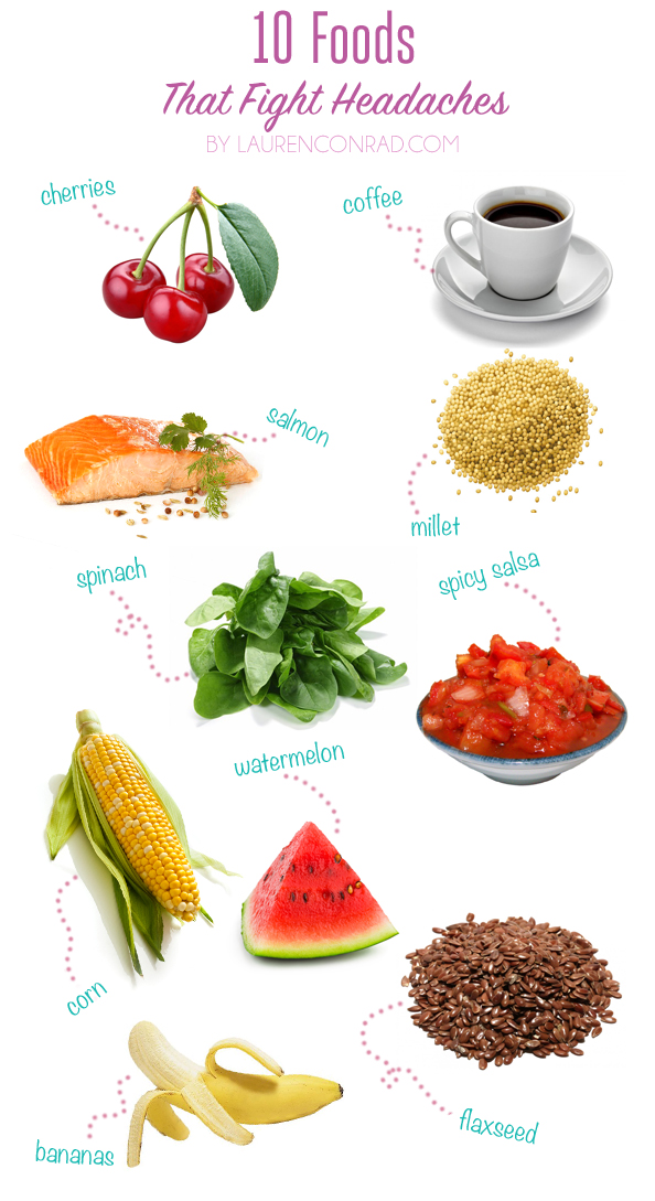 Headache Foods List