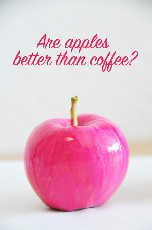 Wake Up: Are Apples Better Than Coffee?