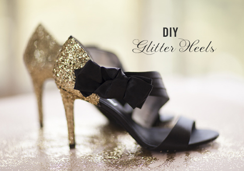 100 Layer Cake: DIY Glitter Wedding Shoes