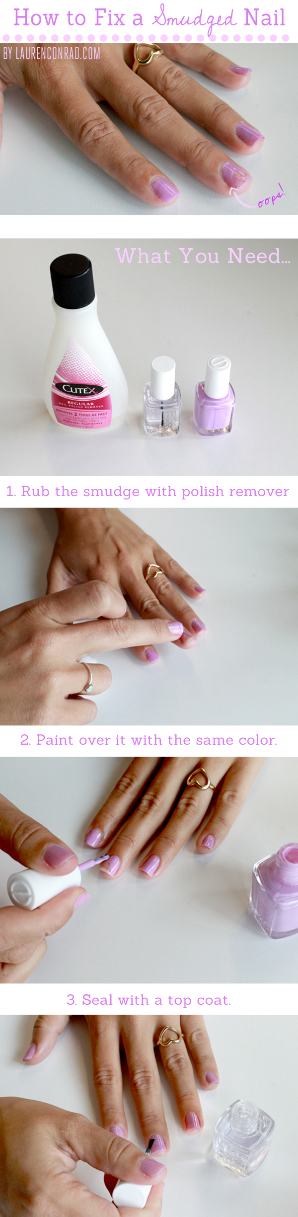 Beauty 911: How to Fix a Smudged Nail - Lauren Conrad