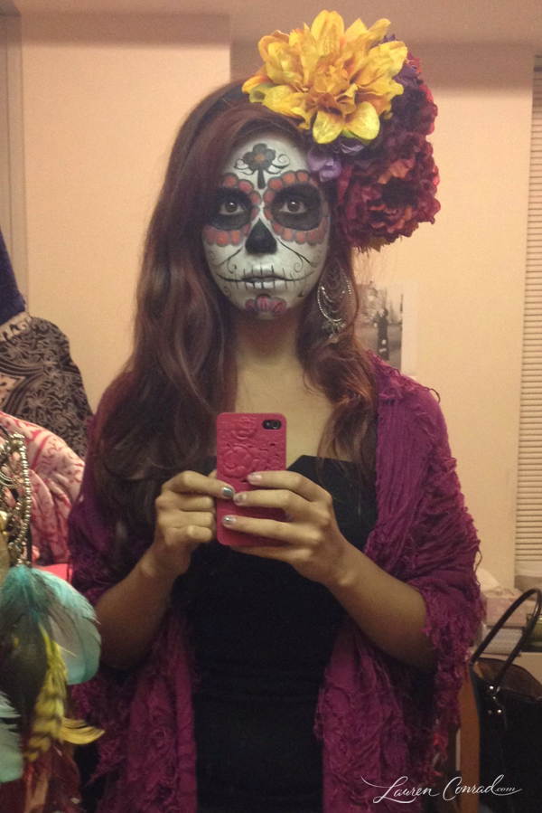 halloween diy sugar skull makeup