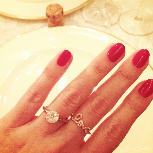 we39re engaged lauren conrad With lauren conrad wedding ring