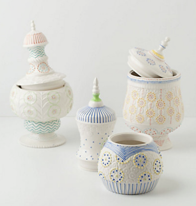 Merriweather Cookie Jars via Anthropologie