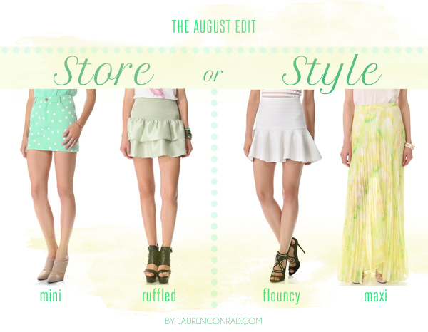 Store or Style: The August Edit Skirts
