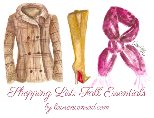 Shopping List: Fall Essentials