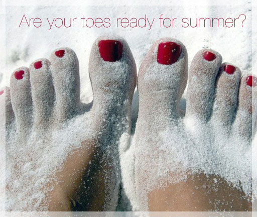 how to get pretty feet for summer