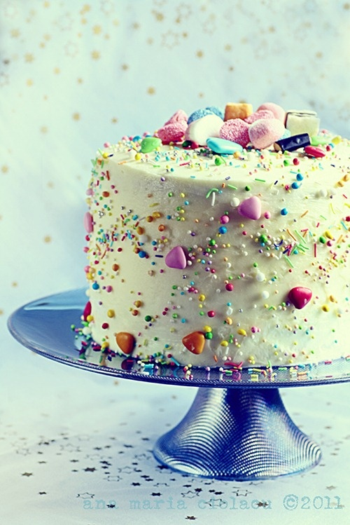 candy-covered cake