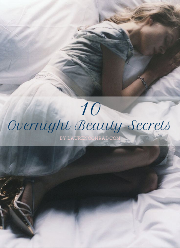 Tuesday Ten: Overnight Beauty Tips