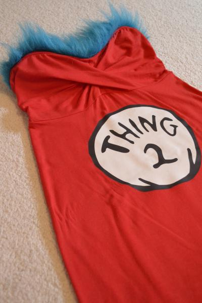 Halloween DIY: Thing 1 & Thing 2 Costume