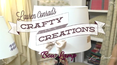 Crafty Creations: Bow Lamp